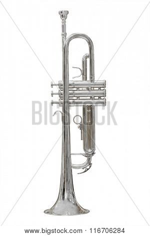 Trumpet isolated under the white background
