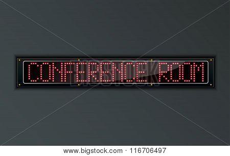 Conference Room LED digital Sign