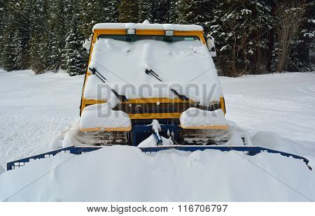 Snow Plow Stuck In The Snow
