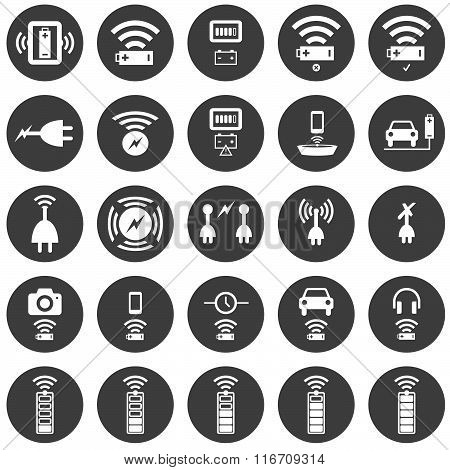 Wireless Charging Icon Set