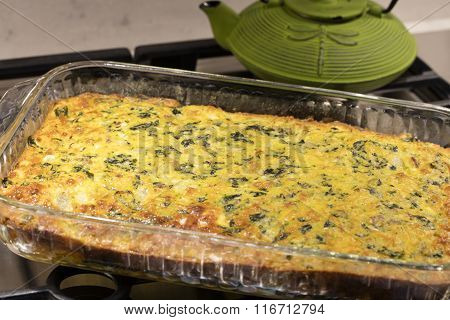 Easy Cheese And Egg Chard Bacon Pie