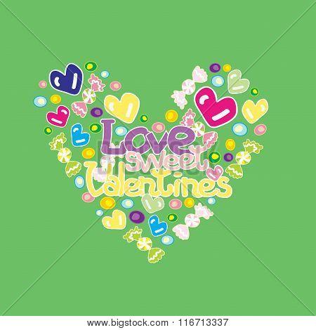 Love Sweet Valentines green