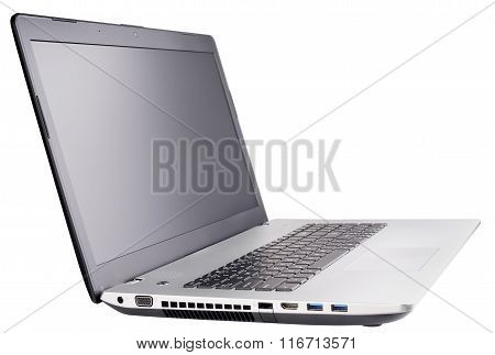 Laptop On White