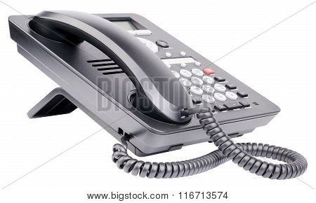 Office Ip Telephone Isolated On White