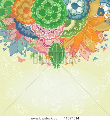 Nature Spring Vector Background
