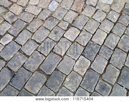 Old Bulgarian stone pavement