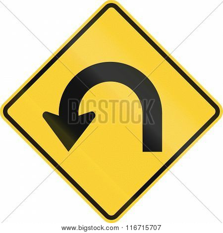 United States Mutcd Warning Road Sign - Hairpin Curve