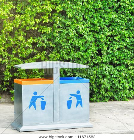 Two Recycling Bin