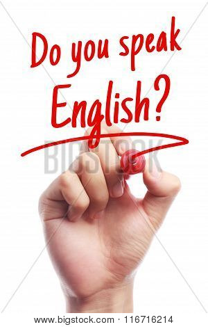 Do You Speak English Language Concept