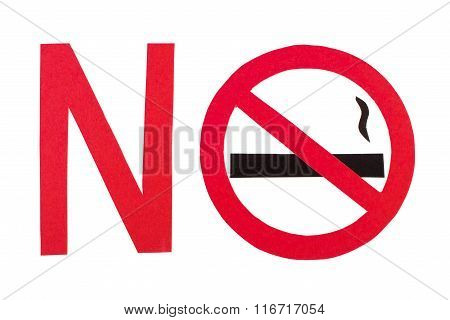 Red No Smoking Sign, Stop Tobacco Save Your Life