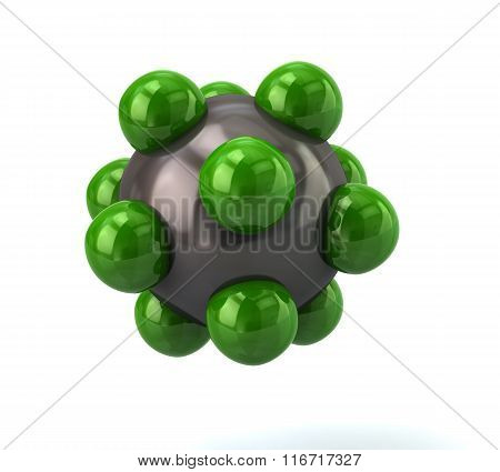 Green Molecule Icon