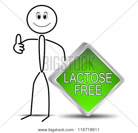 Stickman with Lactose free Button