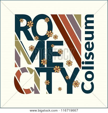 Rome T-shirt For Woman