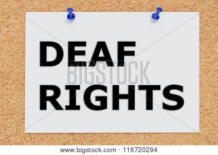 Deaf Rights Concept