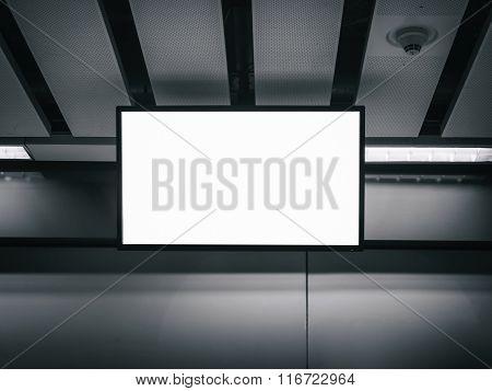 Blank  mock up LCD Screen display indoor