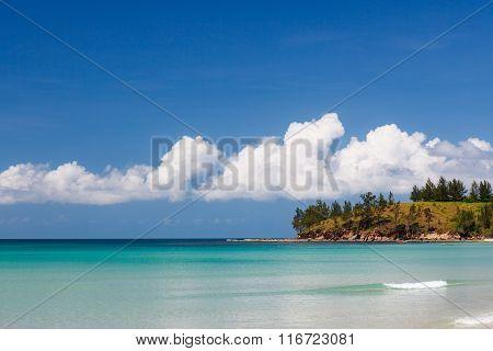Long sand beach at tip of boreno