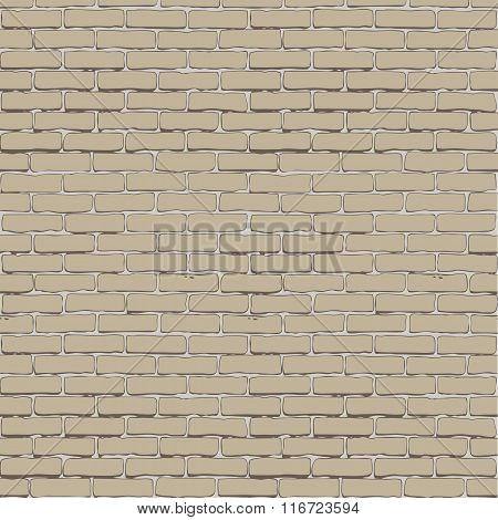 Seamless vector white brick wall