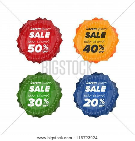 Summer sale circle stickers