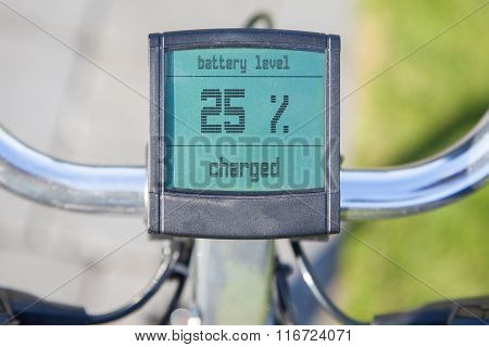 Electric Bicycle Display In The Sun