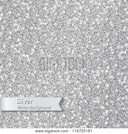 Silver glitter texture.