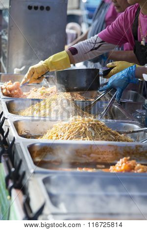 Fresh Noodles At A Streetfood Stall
