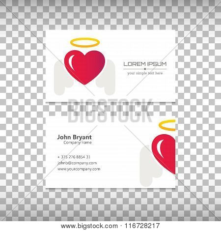 Abstract Creative concept vector image logo of heart for web and mobile applications isolated on bac