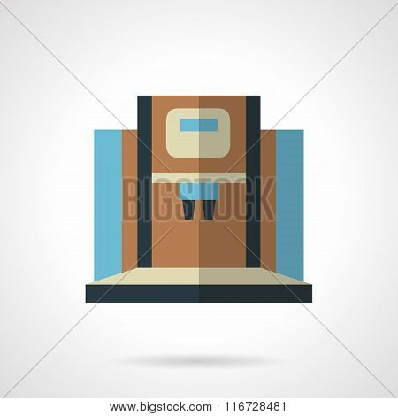 Modern coffee machine flat color vector icon