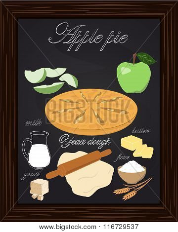 Beautiful Apple Pie And Ingredients