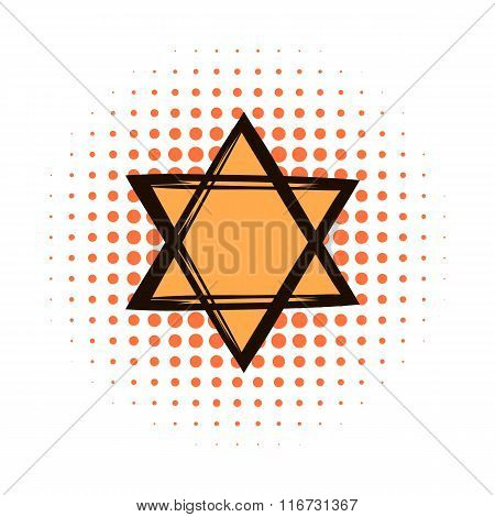 Star of david comics icon