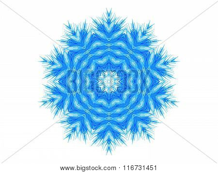 Abstract Blue Pattern Shape