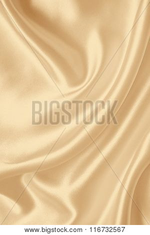 Smooth Elegant Golden Silk Or Satin Texture As Wedding Background. In Sepia Toned. Retro Style