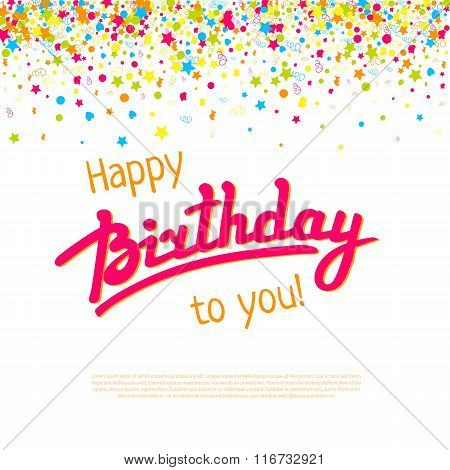 Happy Birthday greeting card with textbox