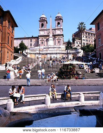 The Spanish Steps, Rome.