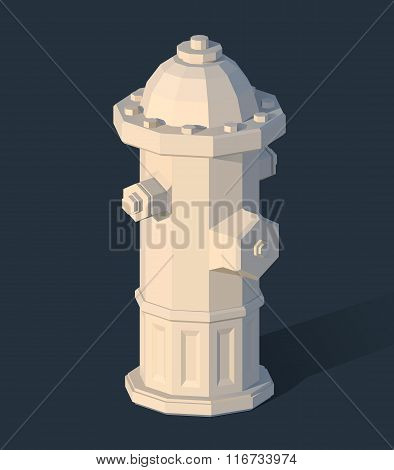 Fire hydrant isometric 3d