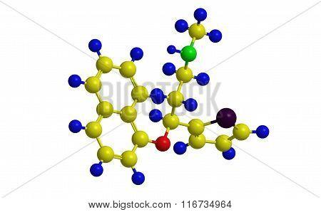 Duloxetine (cymbalta) - Molecular Structure