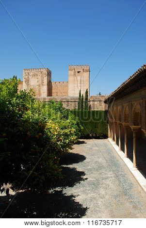 Castle towers, Alhambra Palace.