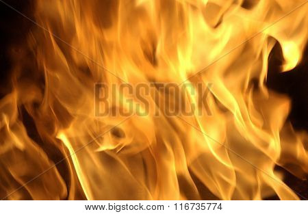 Flames In A Chimney