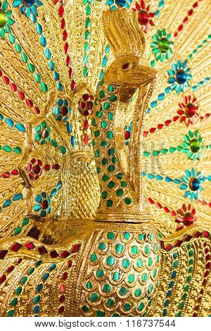 Figure Peacock Gold Statue