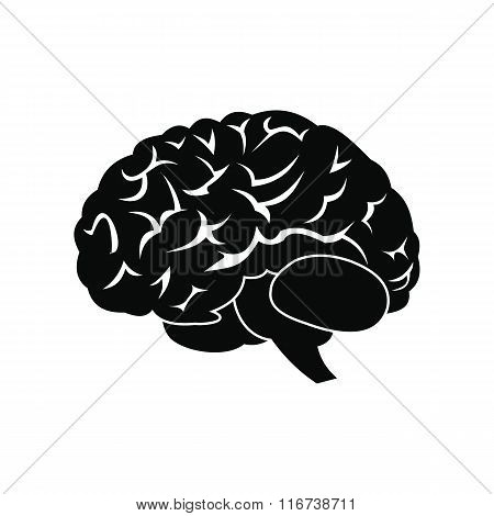Human brain black icon