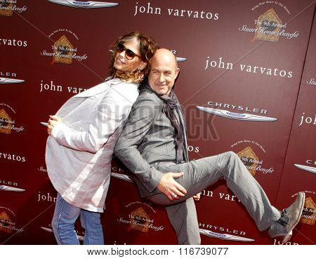 WEST HOLLYWOOD, CALIFORNIA - March 11, 2012. Steven Tyler and John Varvatos at the John Varvatos 9th Annual Stuart House Benefit held at the John Varvatos Boutique, Los Angeles.