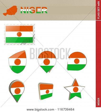 Niger Flag Set, Flag Set #69