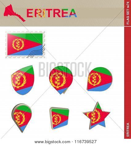 Eritrea Flag Set, Flag Set #74