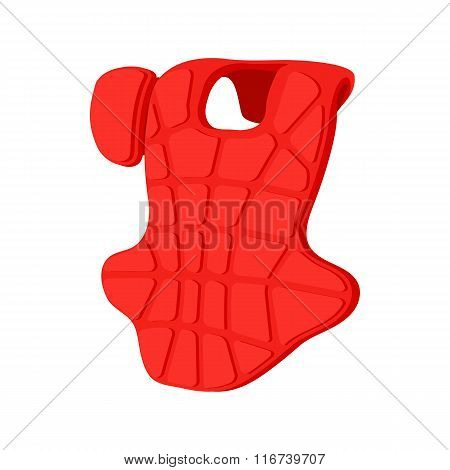 Baseball catcher chest protector icon