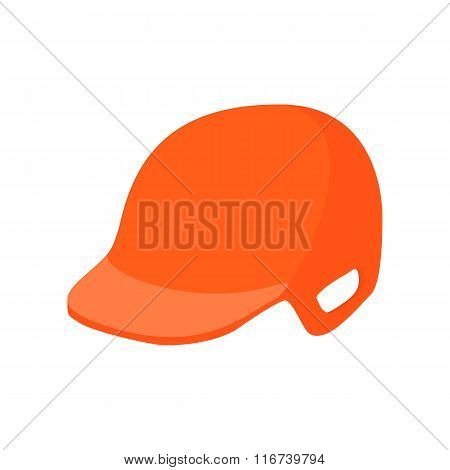 Baseball helmet cartoon icon