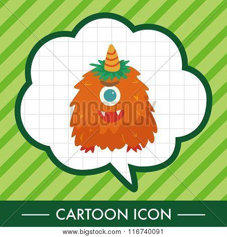 Monster Cartoon Theme Elements Vecotr,eps