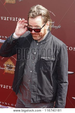 Bryan Cranston at the John Varvatos 9th Annual Stuart House Benefit Presented By Chrysler And Hasbro held at the John Varvatos Boutique, California, United States on March 11, 2012.