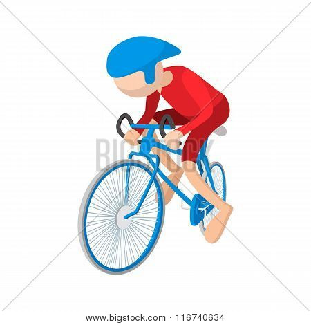 Athlete cyclist cartoon icon