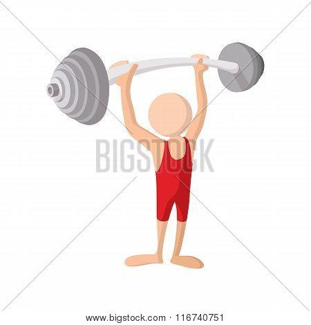 Weightlifting cartoon icon
