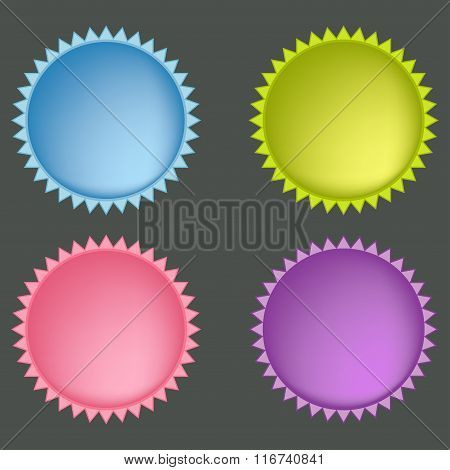 Set Of Colorful Web Buttons