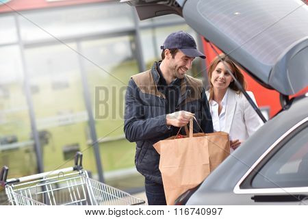 Take away service from grocery store